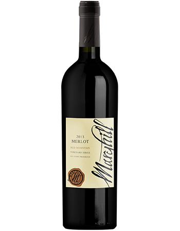 2013 Merlot, Red Mountain Vineyard